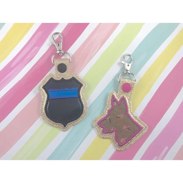 Police Applique Snap Tab Set