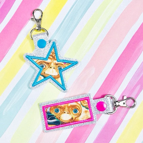 Rectangle Star Applique Snap Tab Set