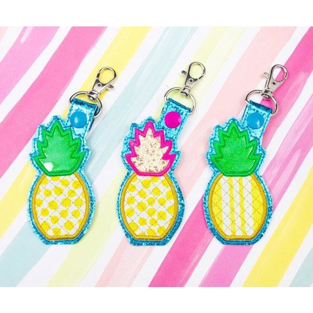 Pineapple Applique Snap Tab