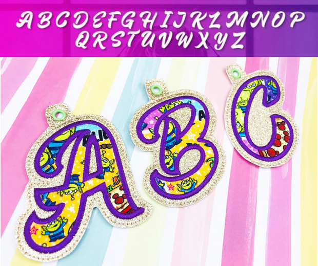 Fancy Complete Letter Set- Eyelet/ Zipper Pulls