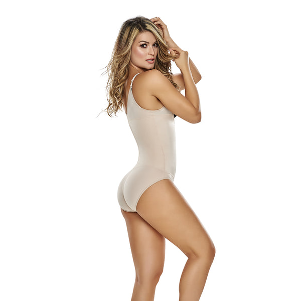 hourglass figure slimming braless body shaper in classic panty nude color 2