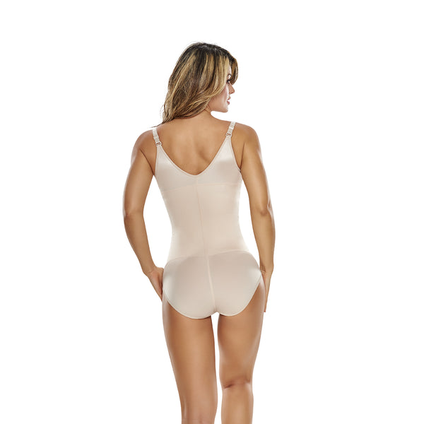 hourglass figure slimming braless body shaper in classic panty nude color 3