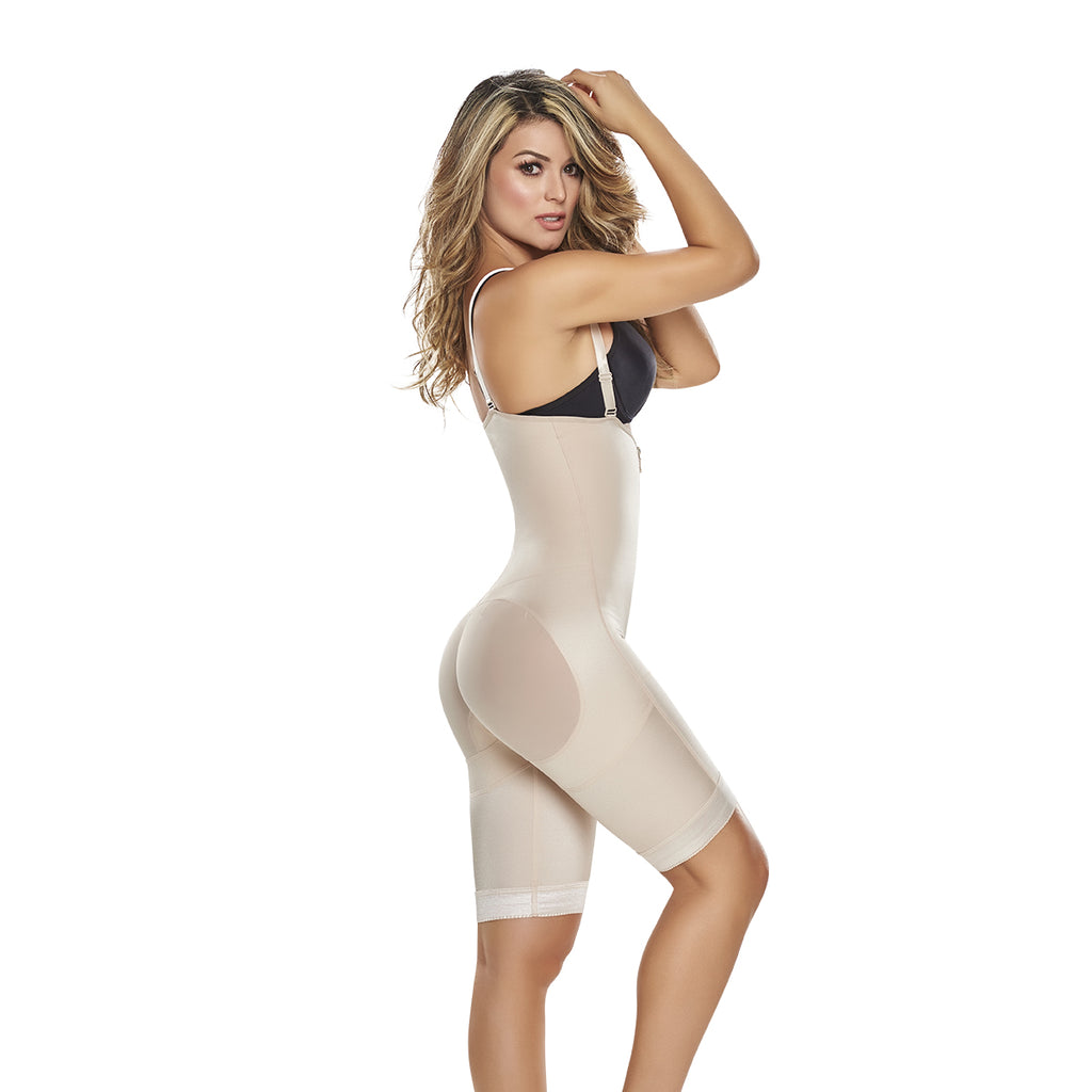 Power Slimmed Mid-Thigh Body Shaper | The Hourglass Figure