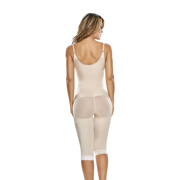 hourglass figure slimming braless body shaper with thigh slimmer in nude color 3