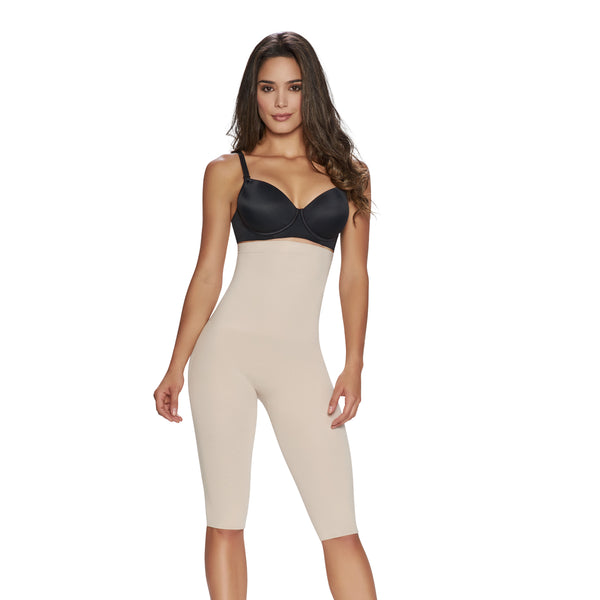 hourglass_figure high waist thigh trimmer in nude color 1