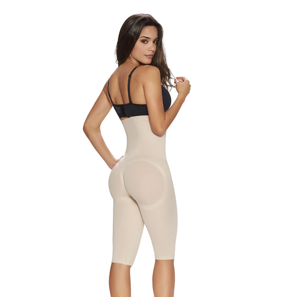 hourglass_figure high waist thigh trimmer in nude color 2