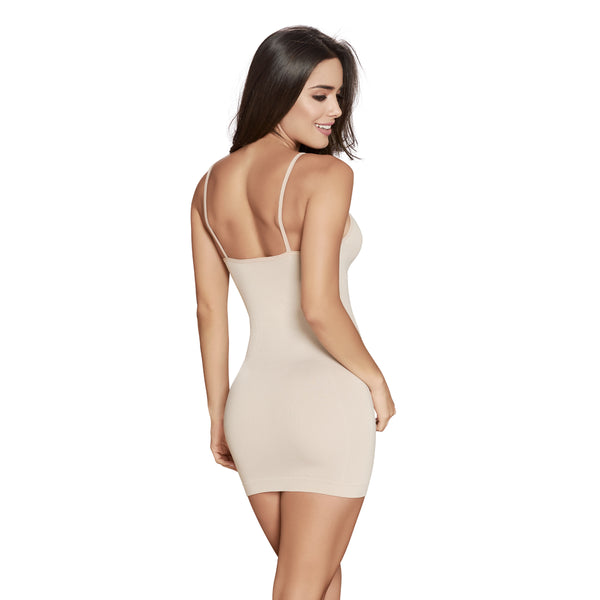 hourglass figure slimming seamless slip in nude color 2