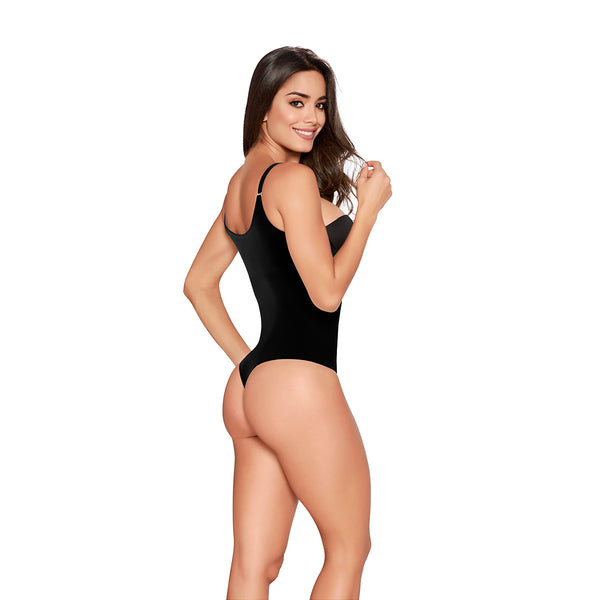 hourglass figure slimming romper black 2