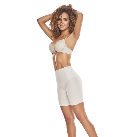 hourglass figure mid thigh invisible control support short nude color 1