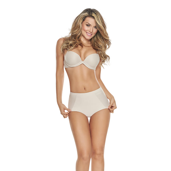 hourglass figure mid waist control panty butt lifter benefits nude color 1