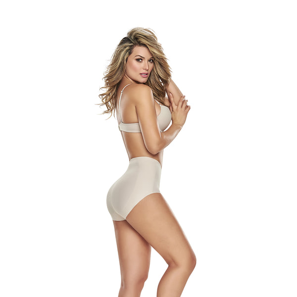 hourglass figure mid waist control panty butt lifter benefits nude color 2