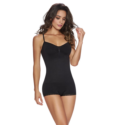 hourglass_figure complete bodysuit shaper in black 1