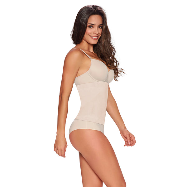 hourglass_figure firm control seamless waist nipper in nude color 1