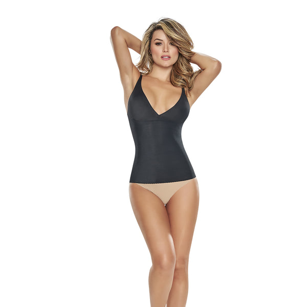 hourglass figure slimming tank in black
