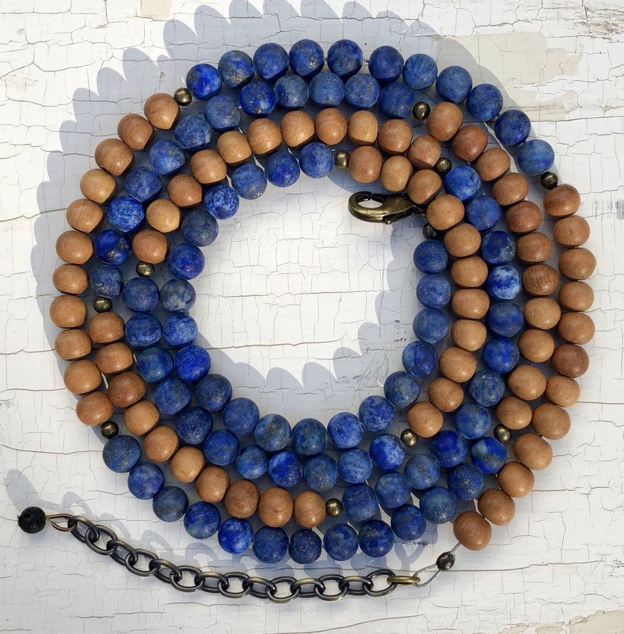 Sew Grown EO Diffusing Bracelet/Necklace - Maude Sandalwood