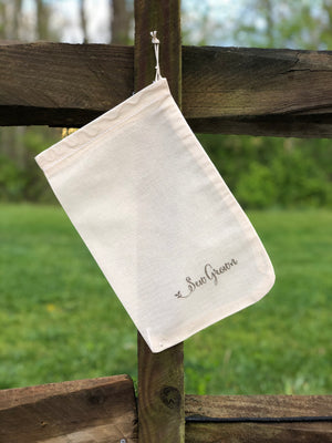 Natural 100% Cotton Bags  - 8 x 12