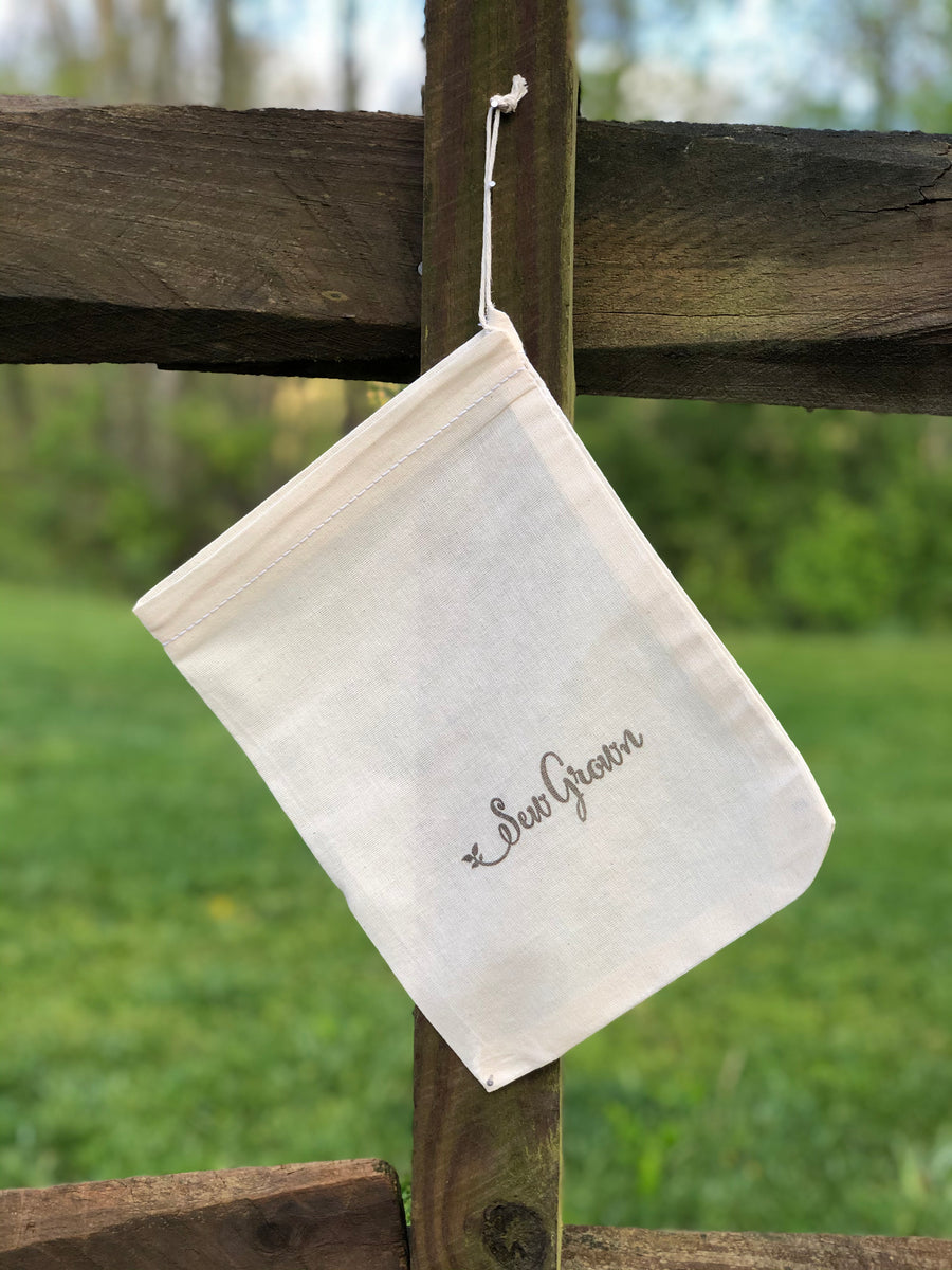 Natural 100% Cotton Bags  - 8 x 10