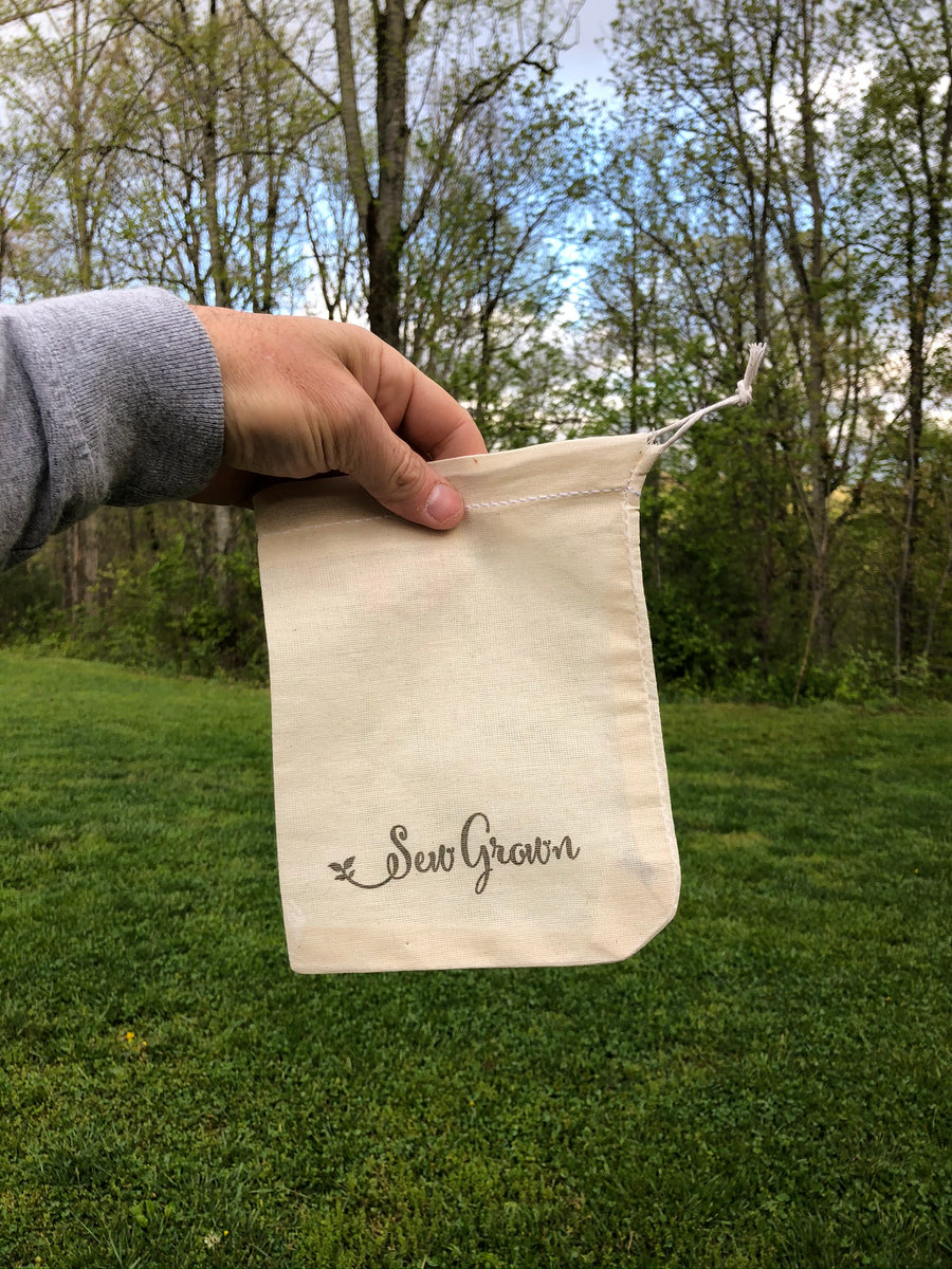 Natural 100% Cotton Bags  - 6 x 8