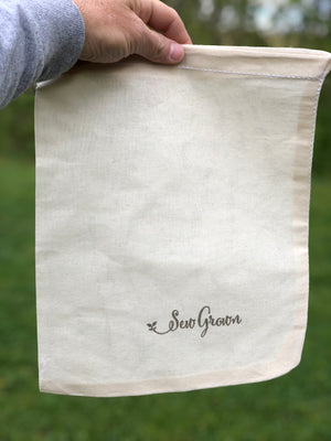 Natural 100% Cotton Bags  - 11 x 13