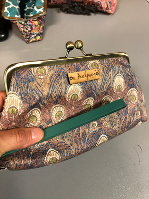 Peacock Bag With Free Wristlet plus Free shipping