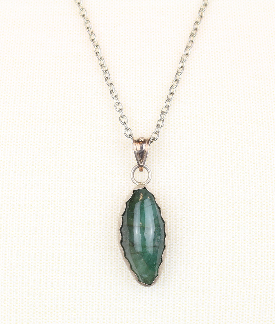 Brazilian Emerald Sterling Silver