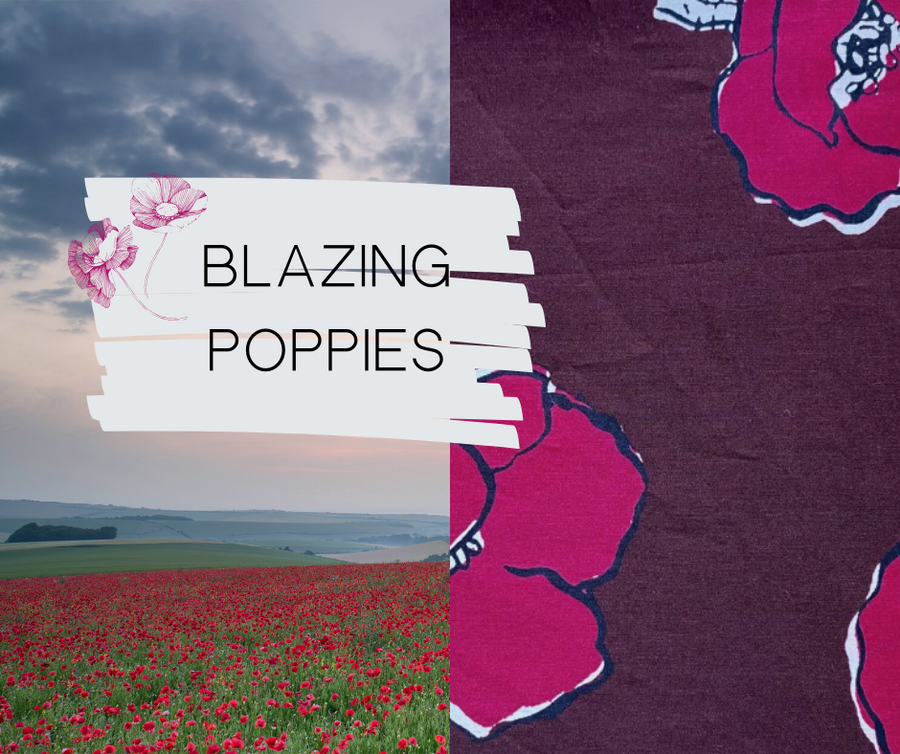 Blazing Poppies Crossbody - Sew Grown Limited