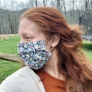 Handmade Cotton Face Mask - Francine Elastic Back
