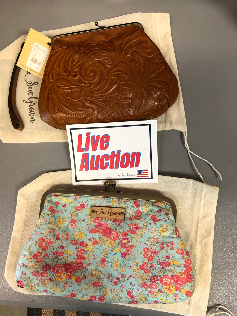 Facebook Auction - leather purse plus classic sew grown 12 bottle