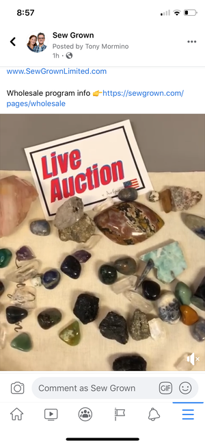 Facebook Auction - one lot stones and crystals