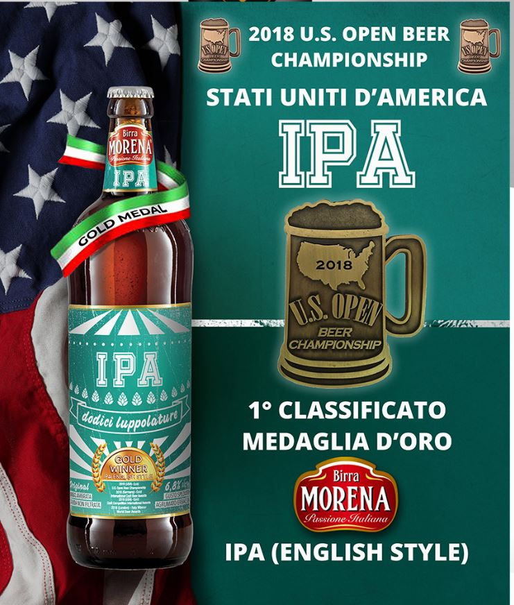 Birra Morena IPA Indian Pale Ale 6.8% AWARDED