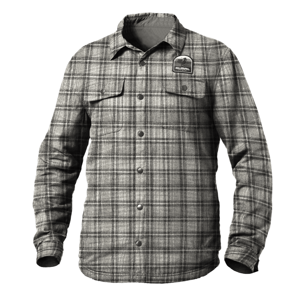 Rural Reversible Work Wear Shirt/Jacket - Gray