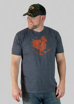 Rooster Icon Tee - Charcoal Grey