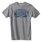 America We Grow Whiskey Tee - Gray