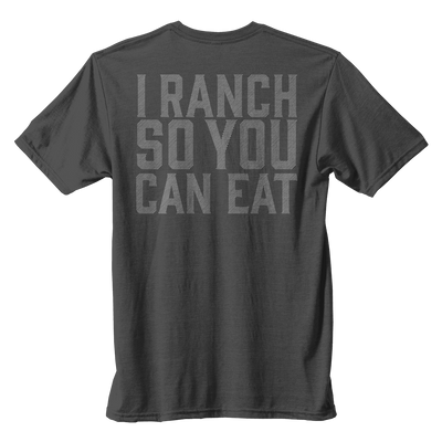 I Ranch So You Can Eat - Dark Heather Gray