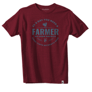 Daily Farmer Tee - Heather Burgundy