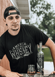 America We Grow Whiskey Tee - Black