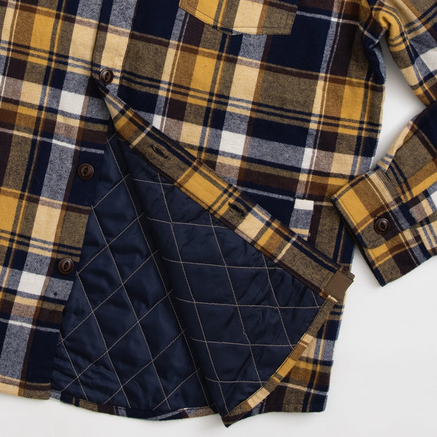 Workman Quilted Shirt Jacket | Blue & Brown