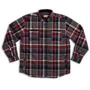 Workman Quilted Shirt Jacket | Gray & Red