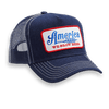 We Grow Beer Retro Trucker Hat - Blue Ribbon