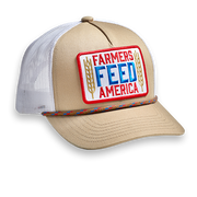 Farmers Feed America - Tan & White - Hat
