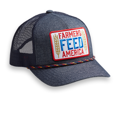 Farmers Feed America - Denim & White - Hat