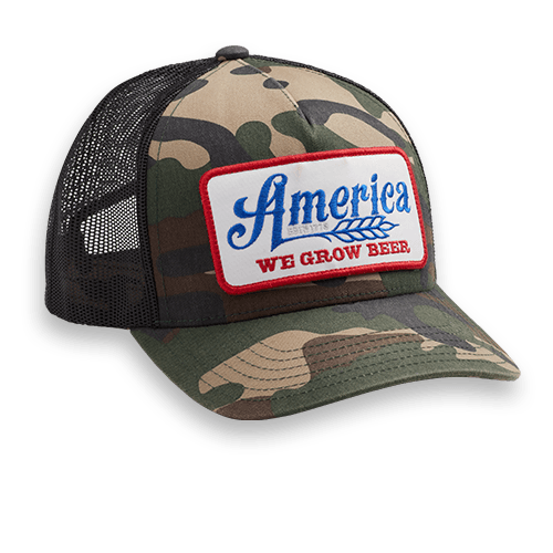 We Grow Beer - Camo & Black - Hat