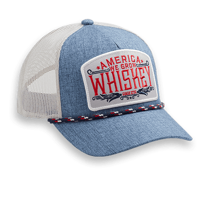 We Grow Whiskey - Blue & White - Hat