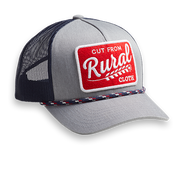 Cut From Rural Cloth Retro - Grey & Navy - Hat