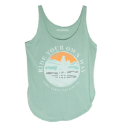 Ride Your Own Way Tank - Stonewash Green