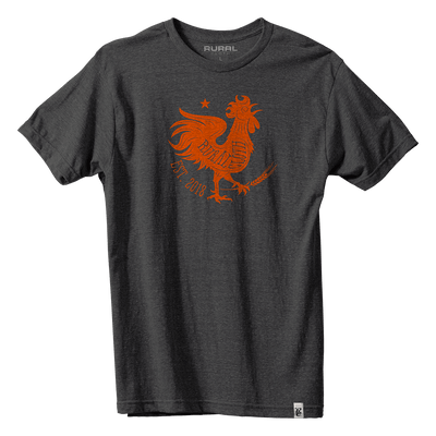 Rooster Icon Tee - Dark Heather Gray