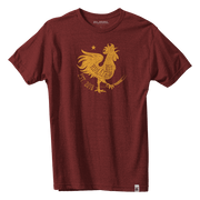 Rooster Icon Tee - Heather Burgundy