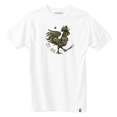 Rooster Icon Tee - White