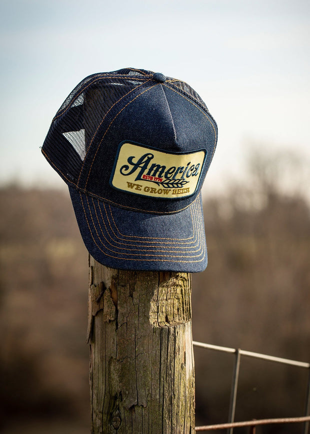 We Grow Beer Denim Trucker Hat - Banquet