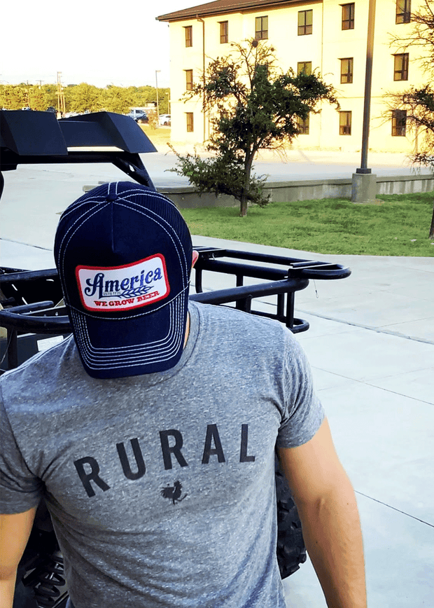 We Grow Beer Denim Trucker Hat - Blue Ribbon